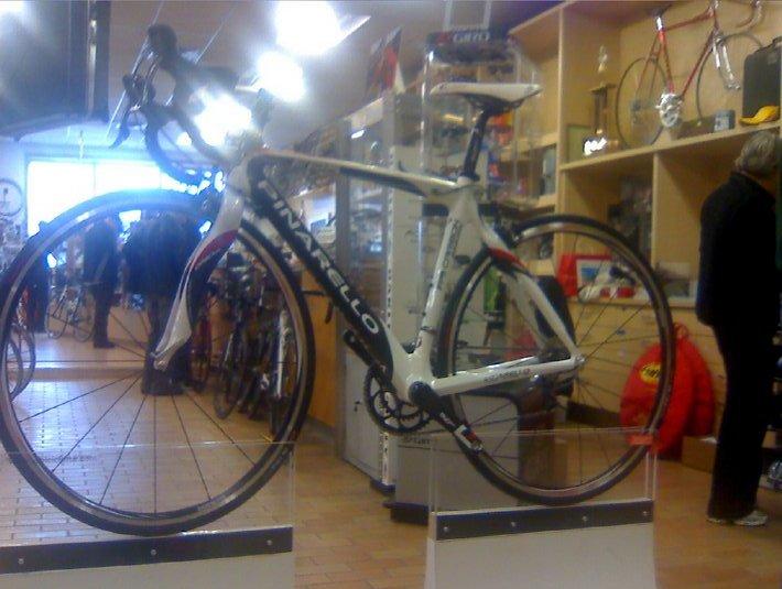 racing bike on pedestal