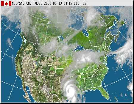 Two weather systems drench central and Eastern Canada