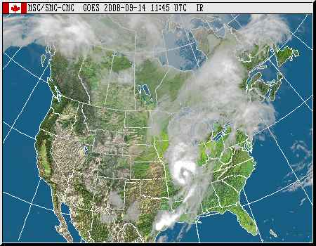 Two weather systemas collide to soak central Canada