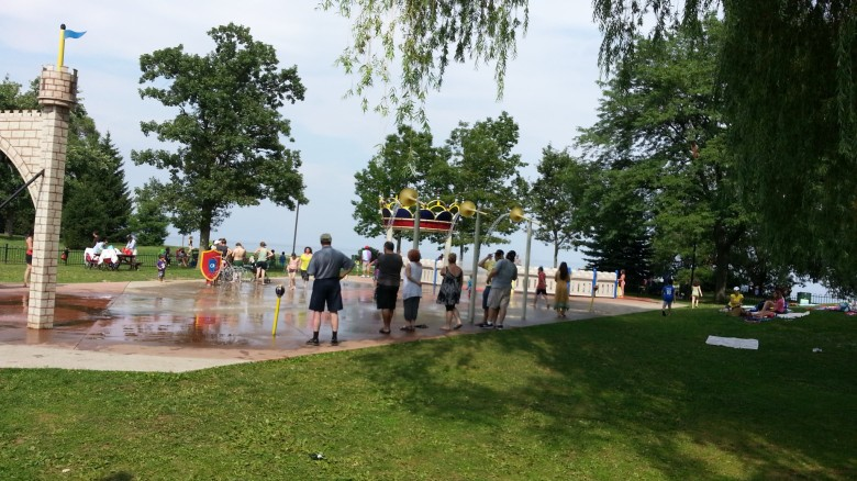 Splash park in Oakville, Ontario