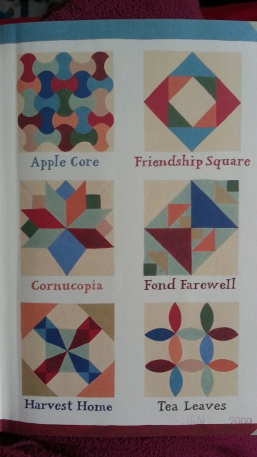 six different quilt patterns