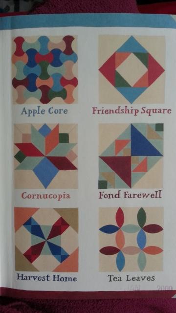 six different quilt patterns